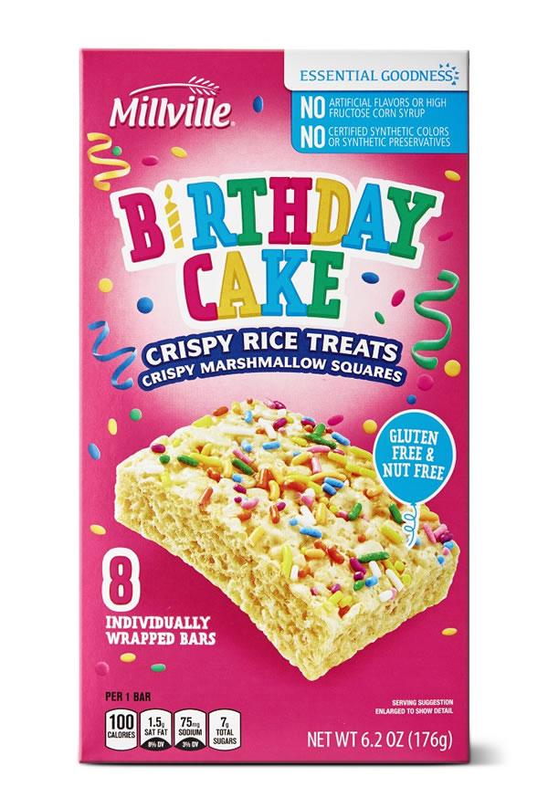 Aldi birthday cake rice krispies treats