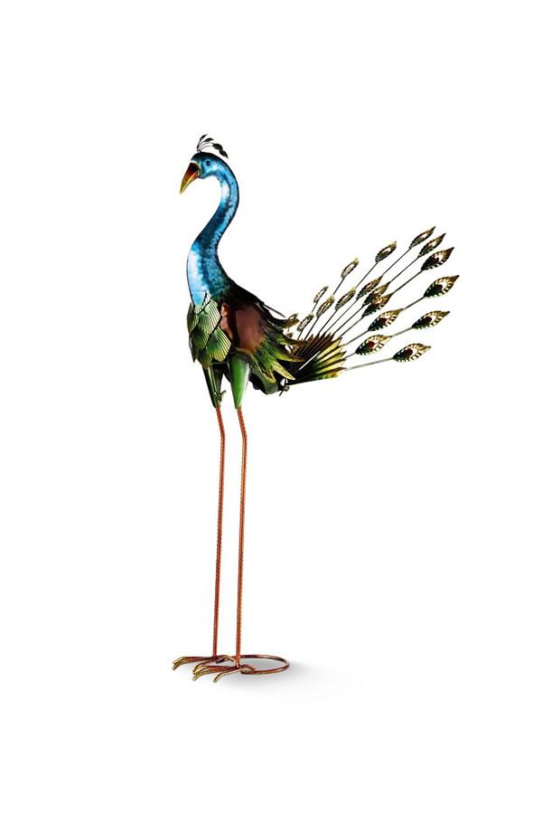 aldi peacock garden statue