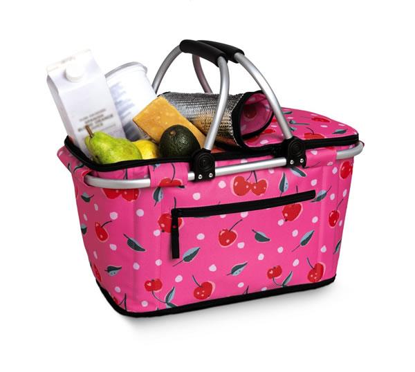 aldi soft sided cooler basket with cherries design
