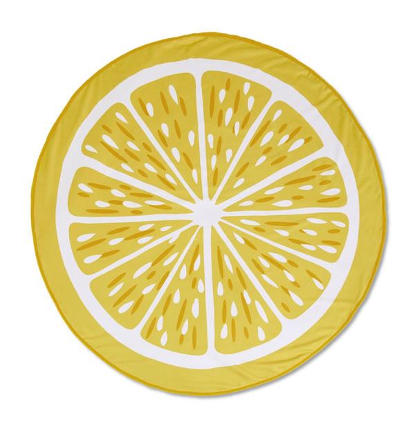 aldi lemon beach towel