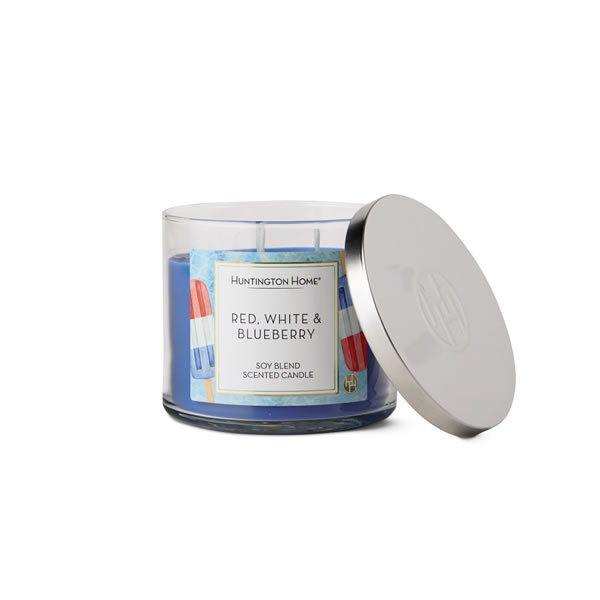 aldi red white blueberry candle