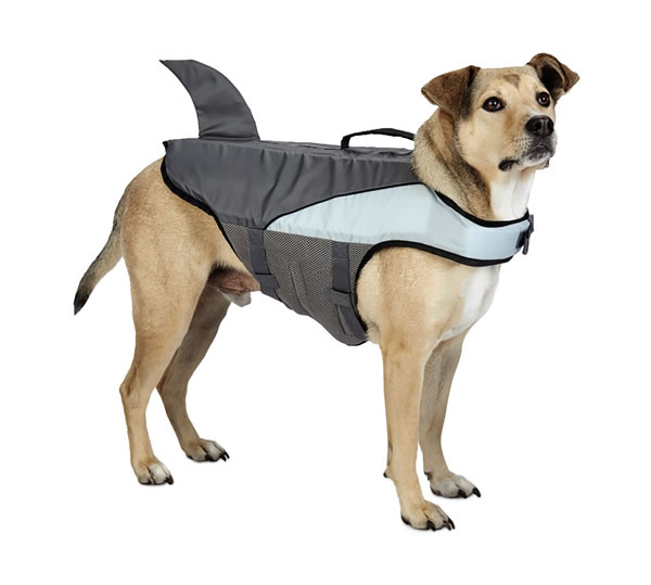 aldi floatation aid dog shark fin
