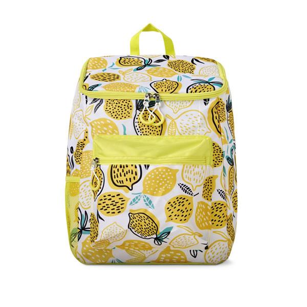aldi lemon print backpack cooler