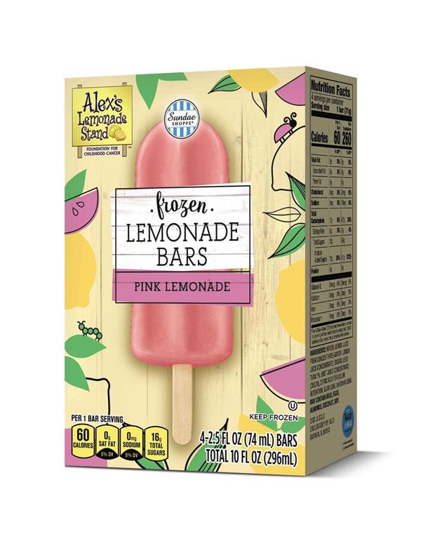 Sundae Shoppe Frozen Pink Lemonade Bars