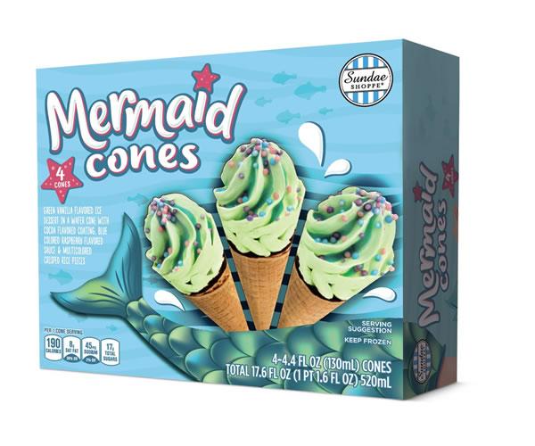 Sundae Shoppe Mermaid Cones