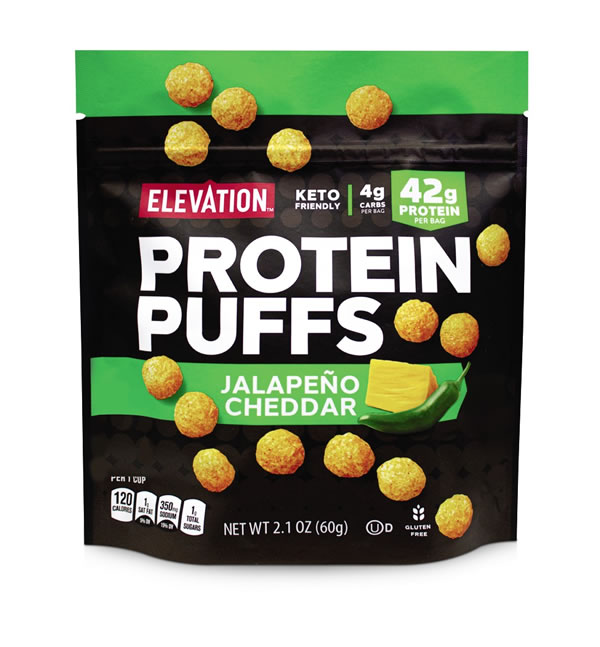 Elevation Nacho Cheese & Jalapeno Cheddar Protein Puffs