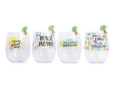 aldi beach wine glass set with charms
