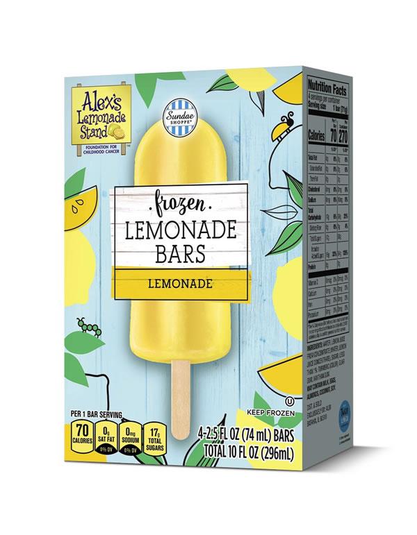 Sundae Shoppe Frozen Lemonade Bars
