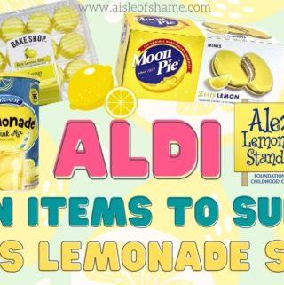 aldi alexs lemonade stand lemon items