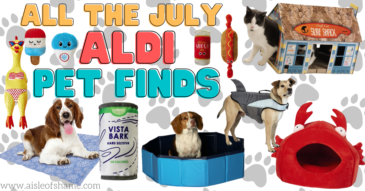 all the pet finds coming to aldi in july