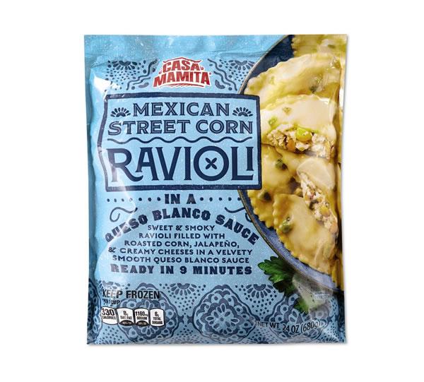 Aldi street corn ravioli