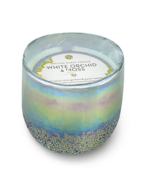 Aldi white orchid & moss candle