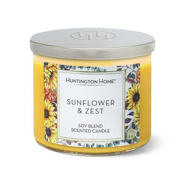 sunflower & zest aldi candle