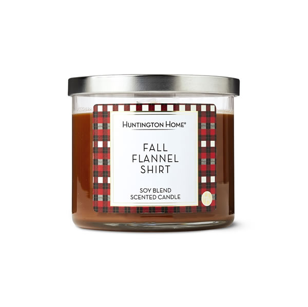 aldi fall flannel shirt candle