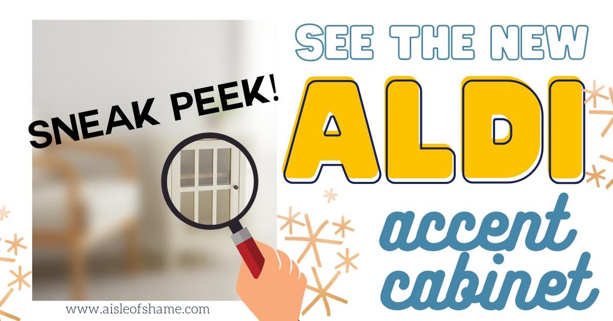 aldi accent cabinet