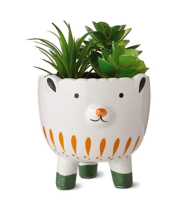 Huntington Home Mini Decorative Succulents lamb