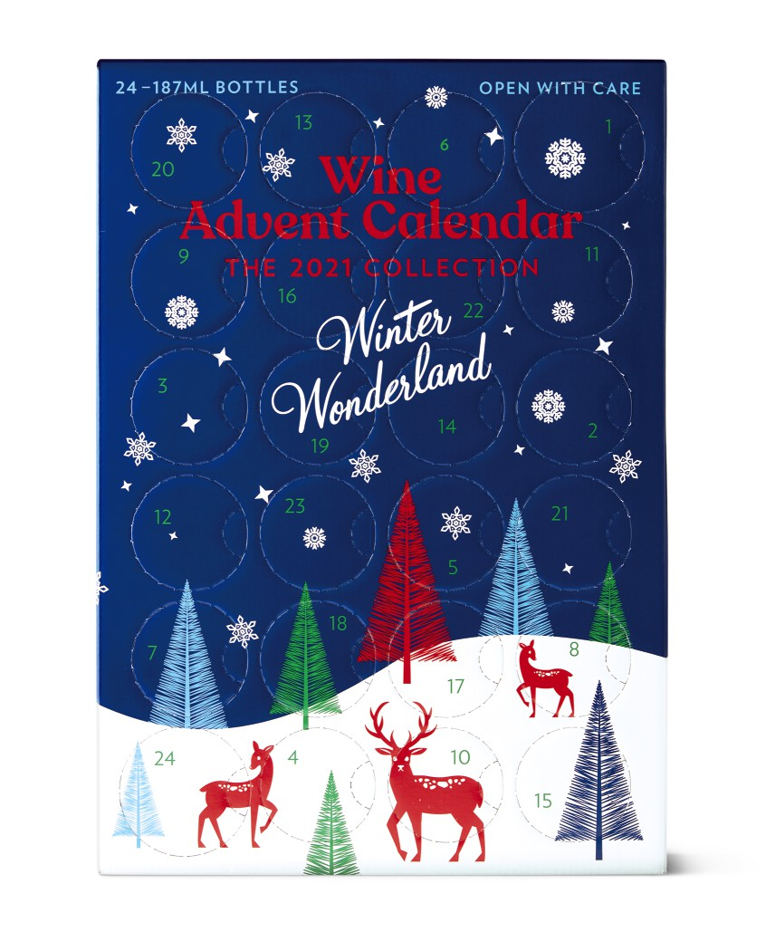 winter wonderland 2021 aldi wine calendar preview