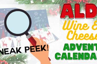 aldi wine and cheese advent calendar sneak peek