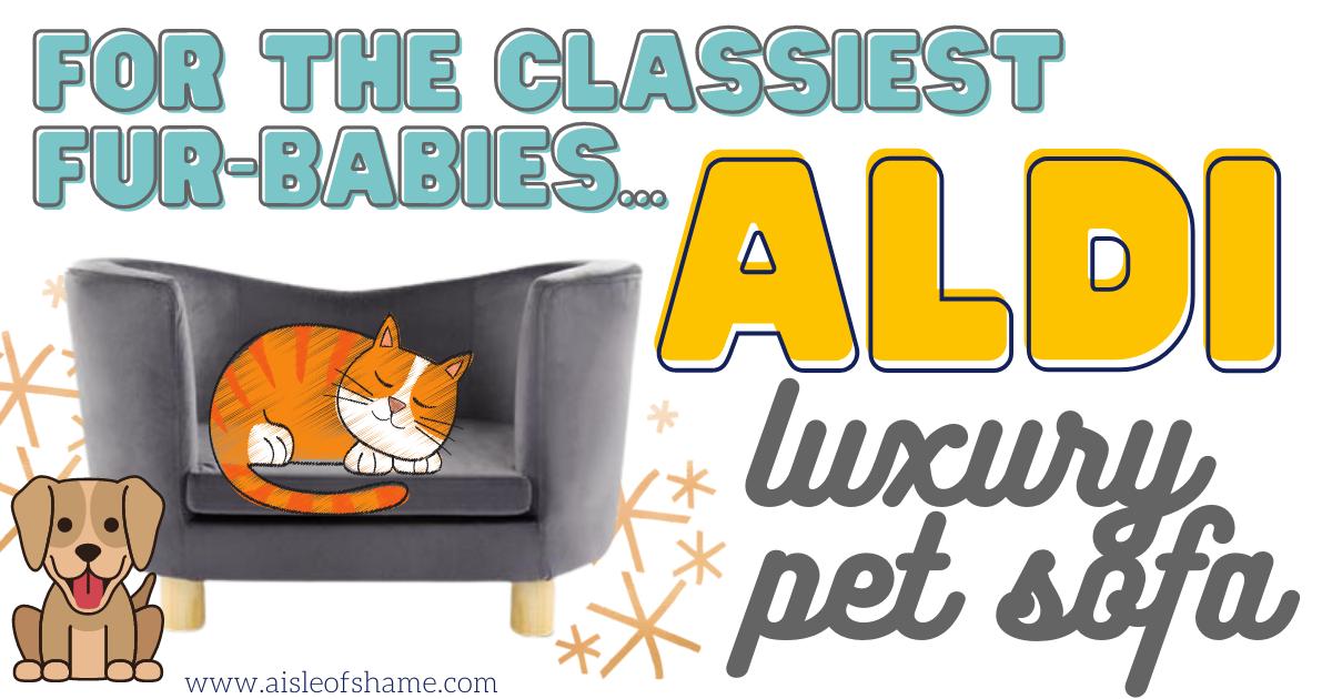 pet sofa from aldi