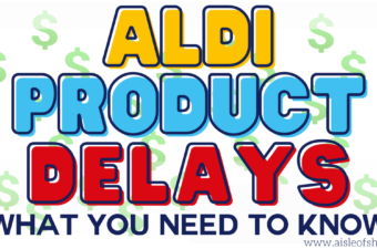 aldi product delays and shipping info