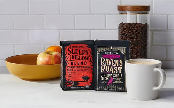 Barissimo Halloween Coffee sleepy hollow and raven's roast