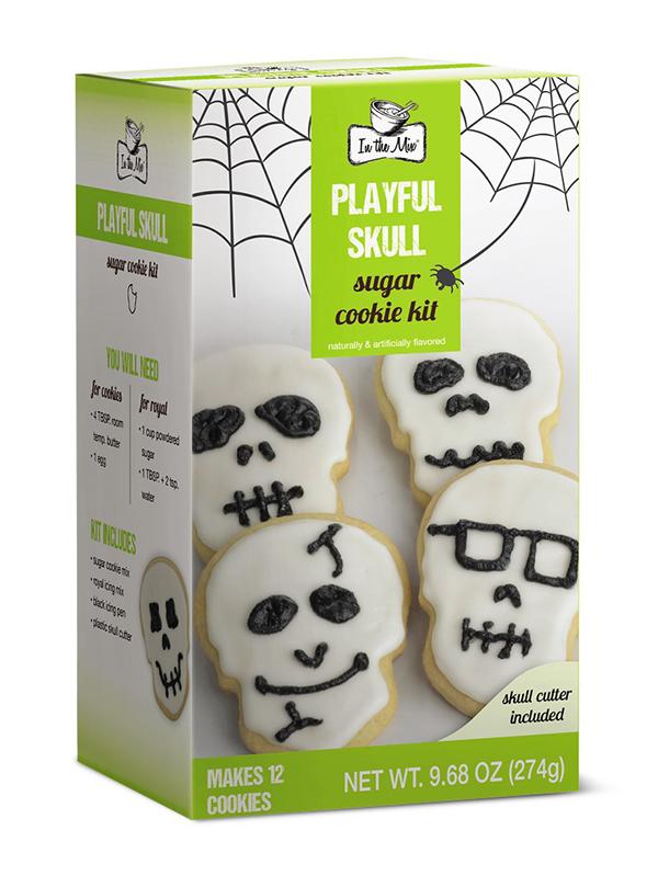 In the Mix Halloween Skulls Cookie Kit