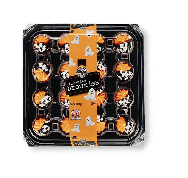 Aldi Two-bite Halloween Brownie Platter