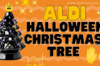 aldi halloween christmas tree