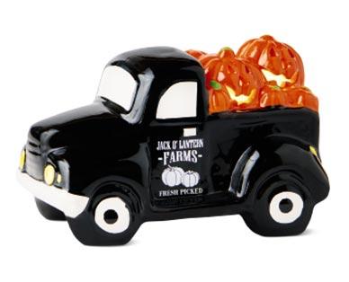 black Ceramic Halloween Trucks