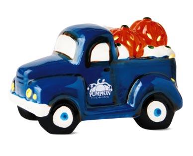 blue Ceramic Halloween Truck