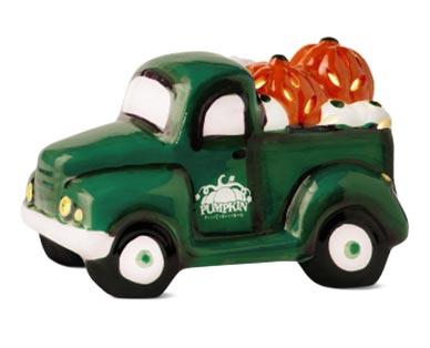 green Ceramic Halloween Truck