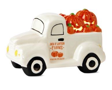 white Ceramic Halloween Truck